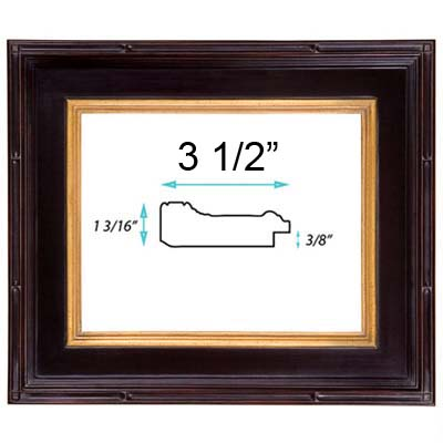 Picture Frames 6 X 8 Picture Frame Handapplied Gold Leaf Gallery Style Frame