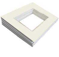 White Single Mat Bundles
