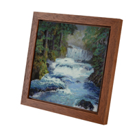 Light Brown Panel Floater Frame
