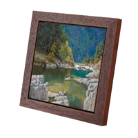 Cherry Red Panel Floater Frame