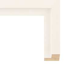 White Panel Floater Frame
