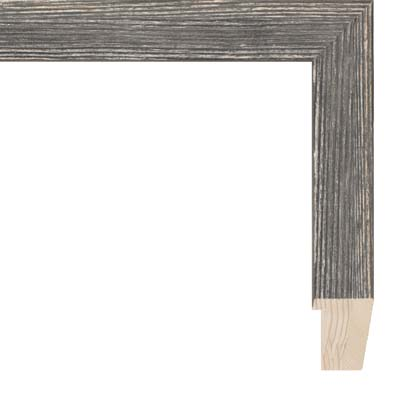 """2/"""" Two Tone Mahogany Finish Wood Picture Frame with White Mat Frames By Mail"""