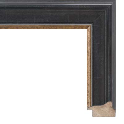 e75b17783d41 Black And Gold Antique Finish Picture Frame.