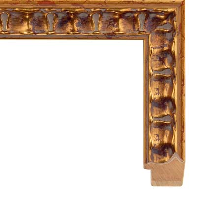 Ornate Picture Frame Gold And Rust Highlights