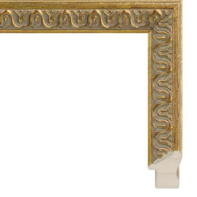 ea86c1dba348 Antique Gold Picture Frame With Red Highlights
