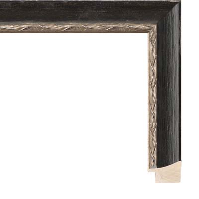 85ec7e1507dc Black Aged Picture Frame With Silver Lip