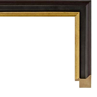 920087f6ae01 Black With A Gold Lip Picture Frame